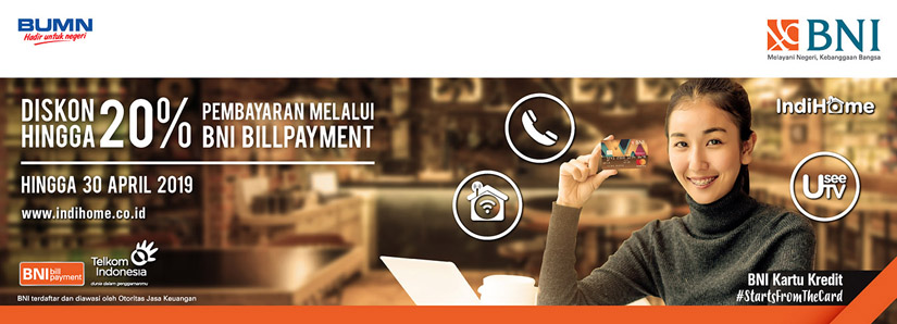 Program Bill Payment Bni Telkom Indihome Promo Bni