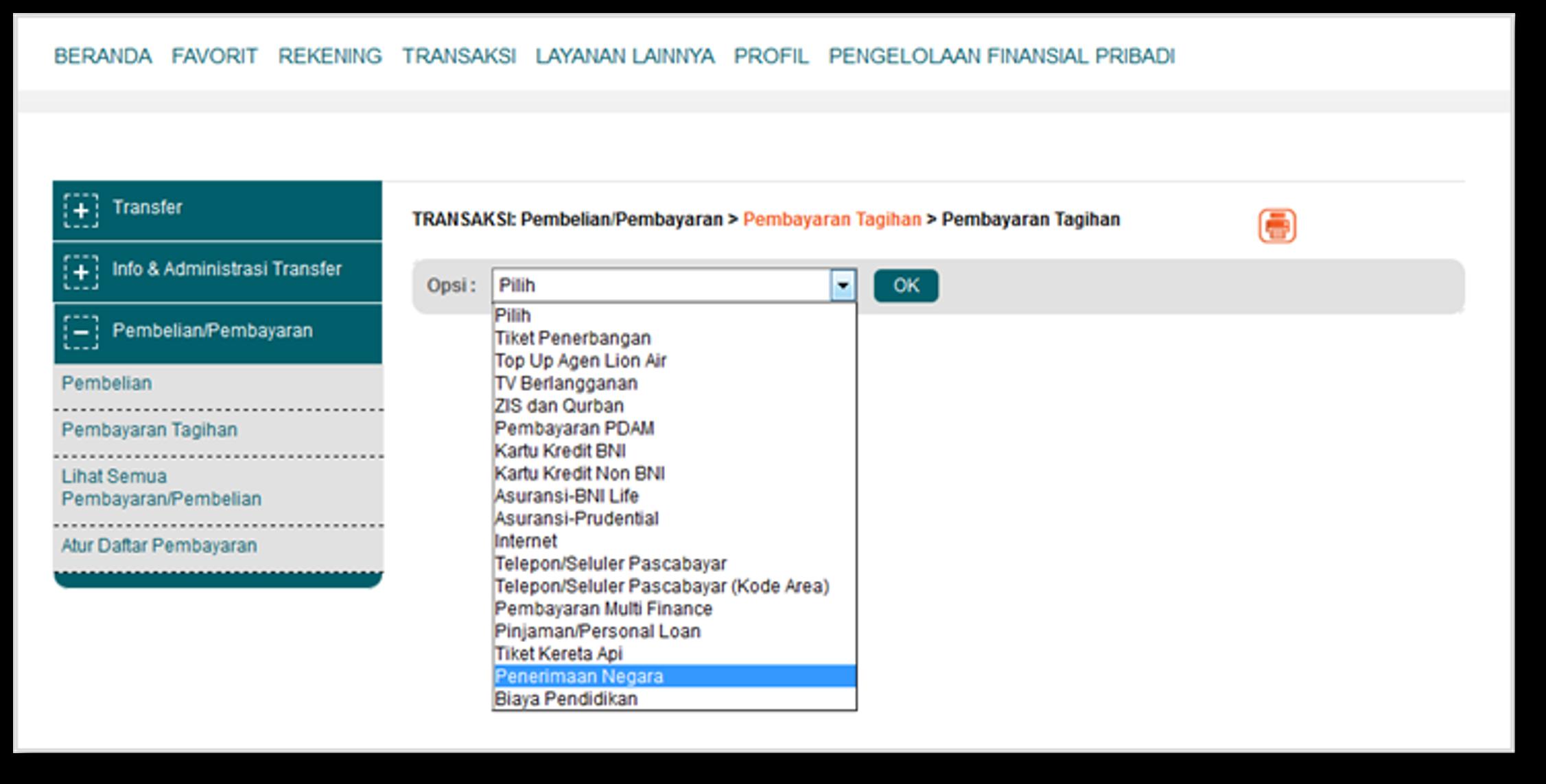Kemudahan Pembayaran Tagihan Pdam Di Bni Newsletter Pindah Kredit0 Menu Sms Banking