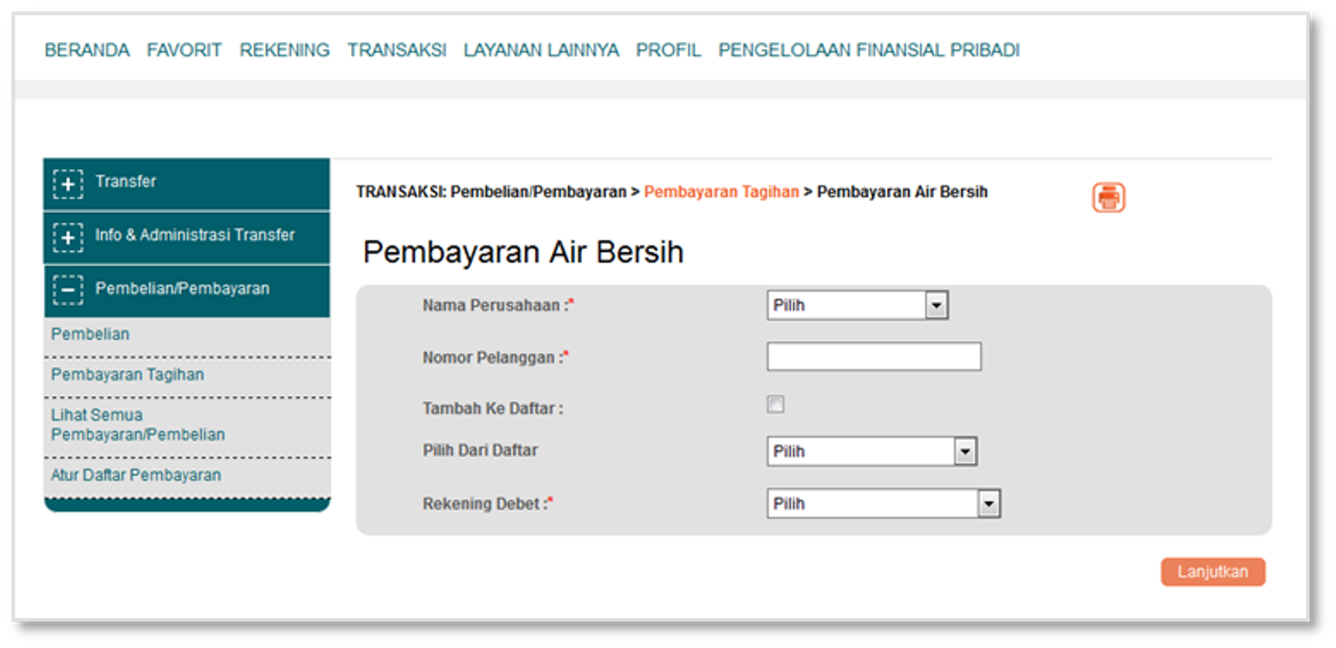 Kemudahan Pembayaran Tagihan Pdam Di Bni Newsletter 1 Konfirmasi Untuk Menyelesaikan Transaksi Dibutuhkan Otentifikasi Menggunakan E Secure M
