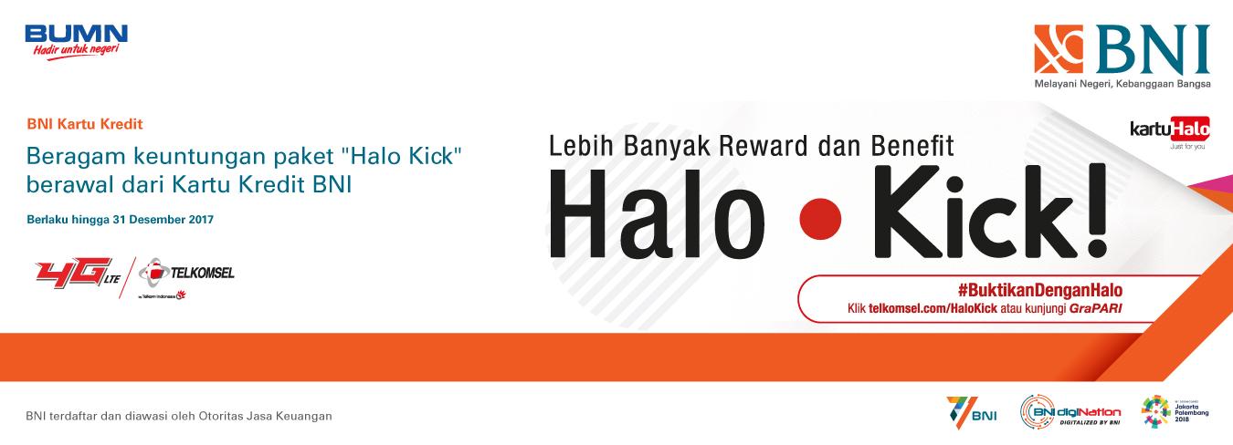 Dapatkan Beragam Keuntungan Paket Halo Kick dengan Kartu Kredit BNI