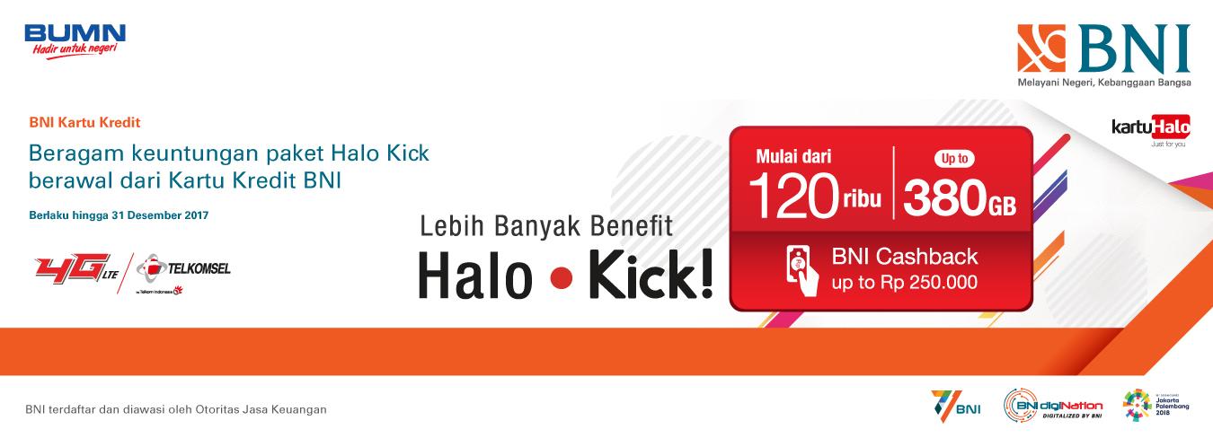 Beragam Keuntungan Paket Halo Kick Berawal dari Kartu Kredit BNI