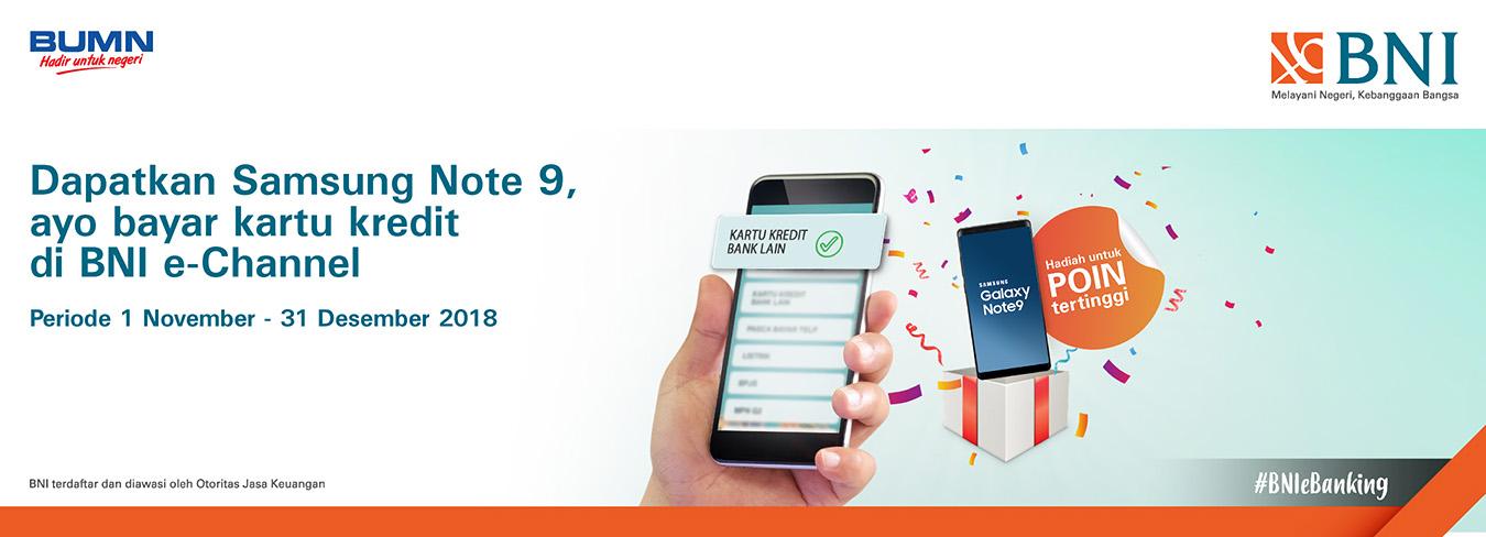 Bayar Kartu Kredit Berhadiah Samsung Note 9