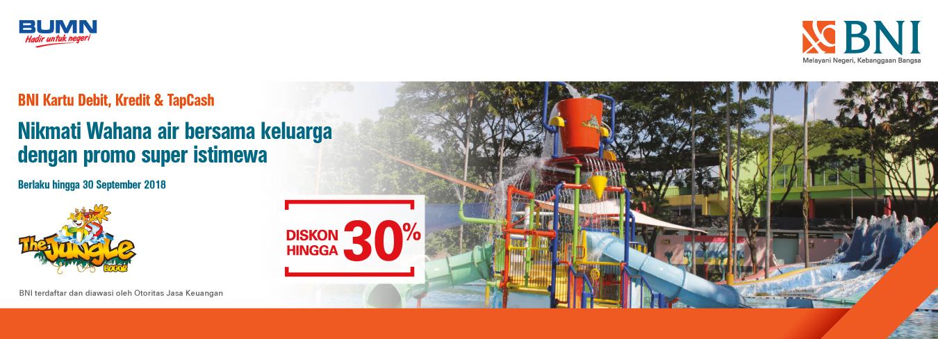 Diskon Hingga 30% di The Jungle Water Park